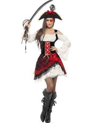 Glamorous Lady Pirate Costume | Online Joke Shop