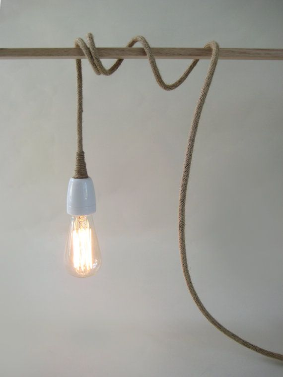 Plug In Pendant Light Make To Order With Linen By Warnaacorner
