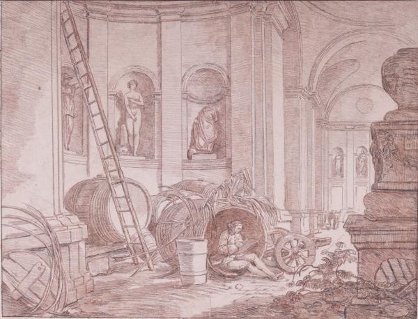 Jean Robert ANGO (vers 1710 u2013 Rome 1773) - Un dessinateur dans le