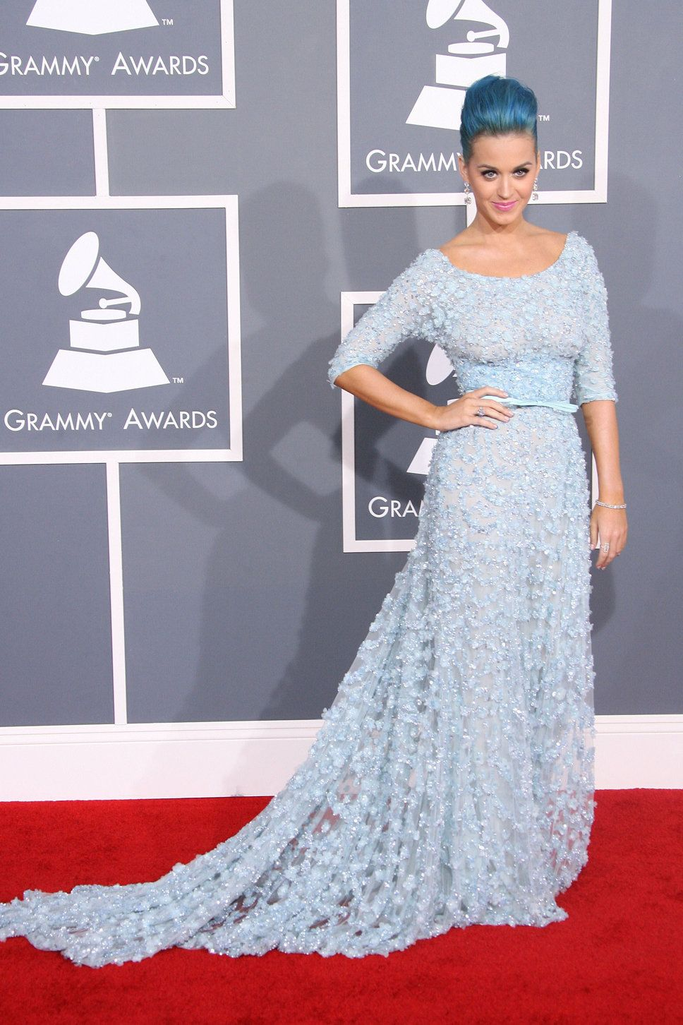 Katy Perry's Blue Sequin Dress