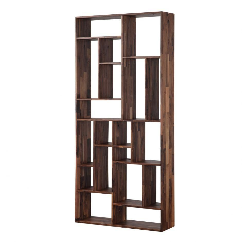 41 Solid Reclaimed Walnut Bookshelf Unit