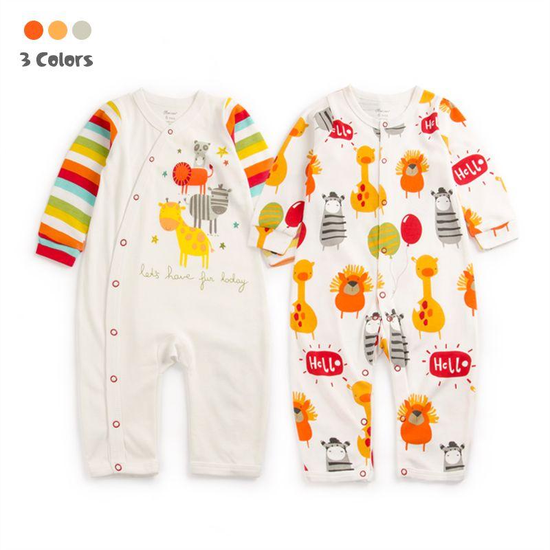 8fbe7f7ab3be Baby Gift Giraffe Zoo Cotton Rompers Newborn Baby Boy Girl Romper ...