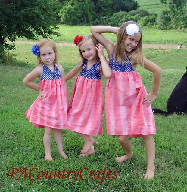 All-American Dress Tutorial - adaptable for babies, toddlers, and big girl sizes
