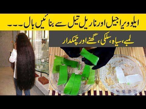 Aloe Vera Hair Growth Oil For Thick Hair Silky Hair Black Hair Longer Hair Homemade Urdu Hindi Youtub Aloe Vera Hair Growth Silky Hair Aloe Vera For Hair