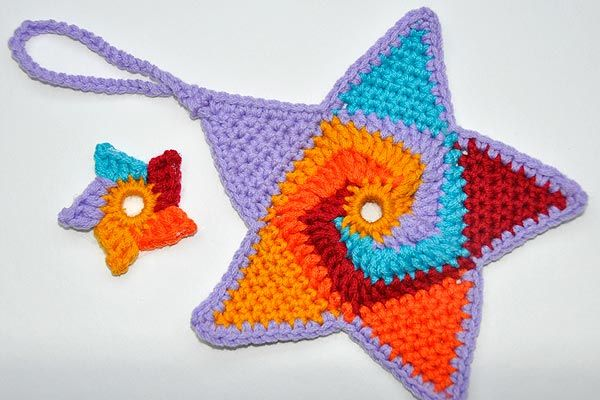 "Crochet Star ""Tutti Frutti"" Tutorial ༺✿Teresa Restegui http://www.pinterest.com/teretegui/✿༻"