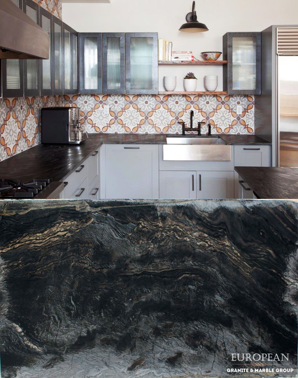 Choosing Stone With A Brushed Finish Will Give Your Countertops A Completely Different Look To That Of A Polished Finish To Create A Brushed F Retro Home Decor