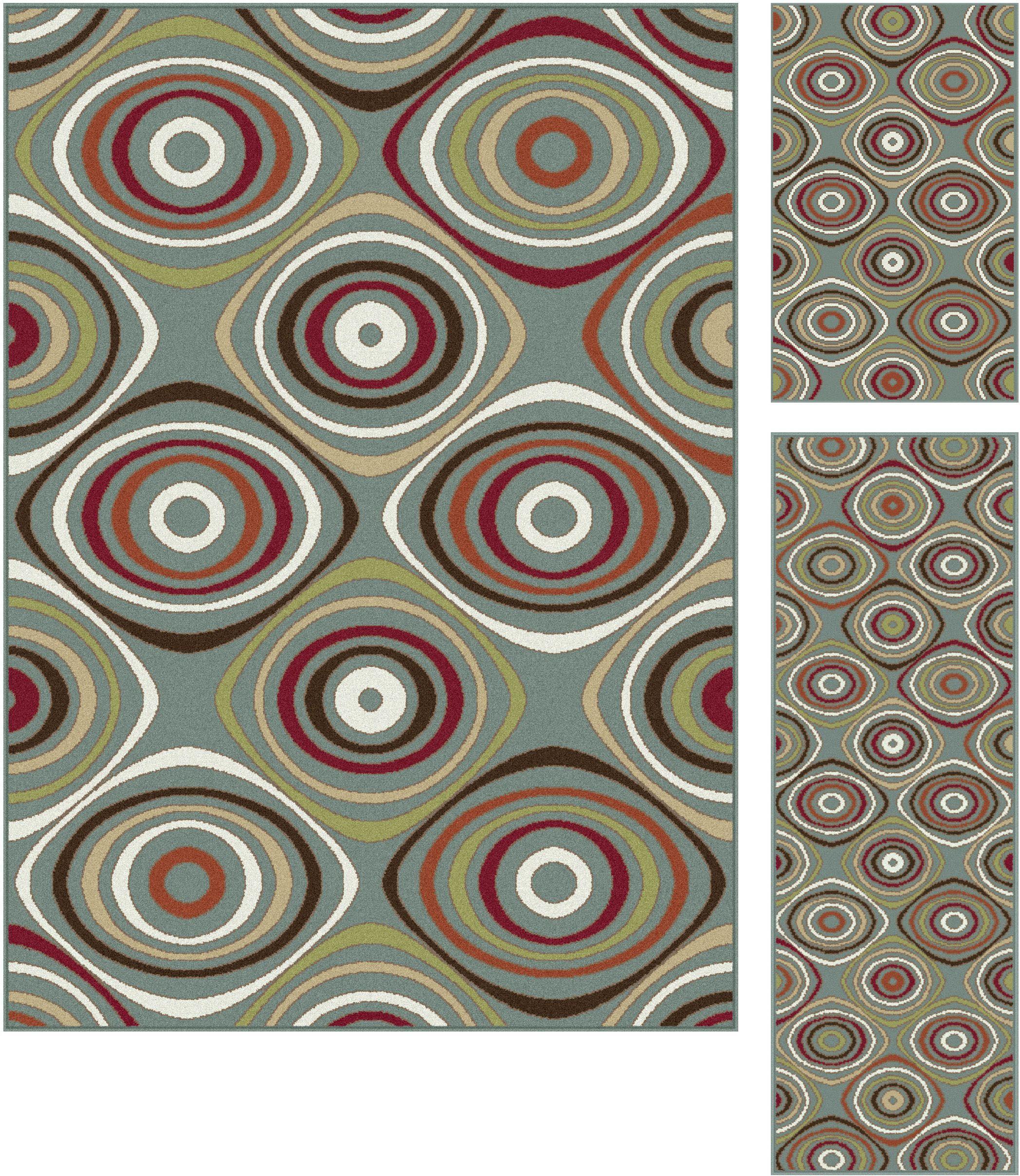 Tayse Rugs Deco Karen 3 Piece Rug Set Transitional Area Rug, B