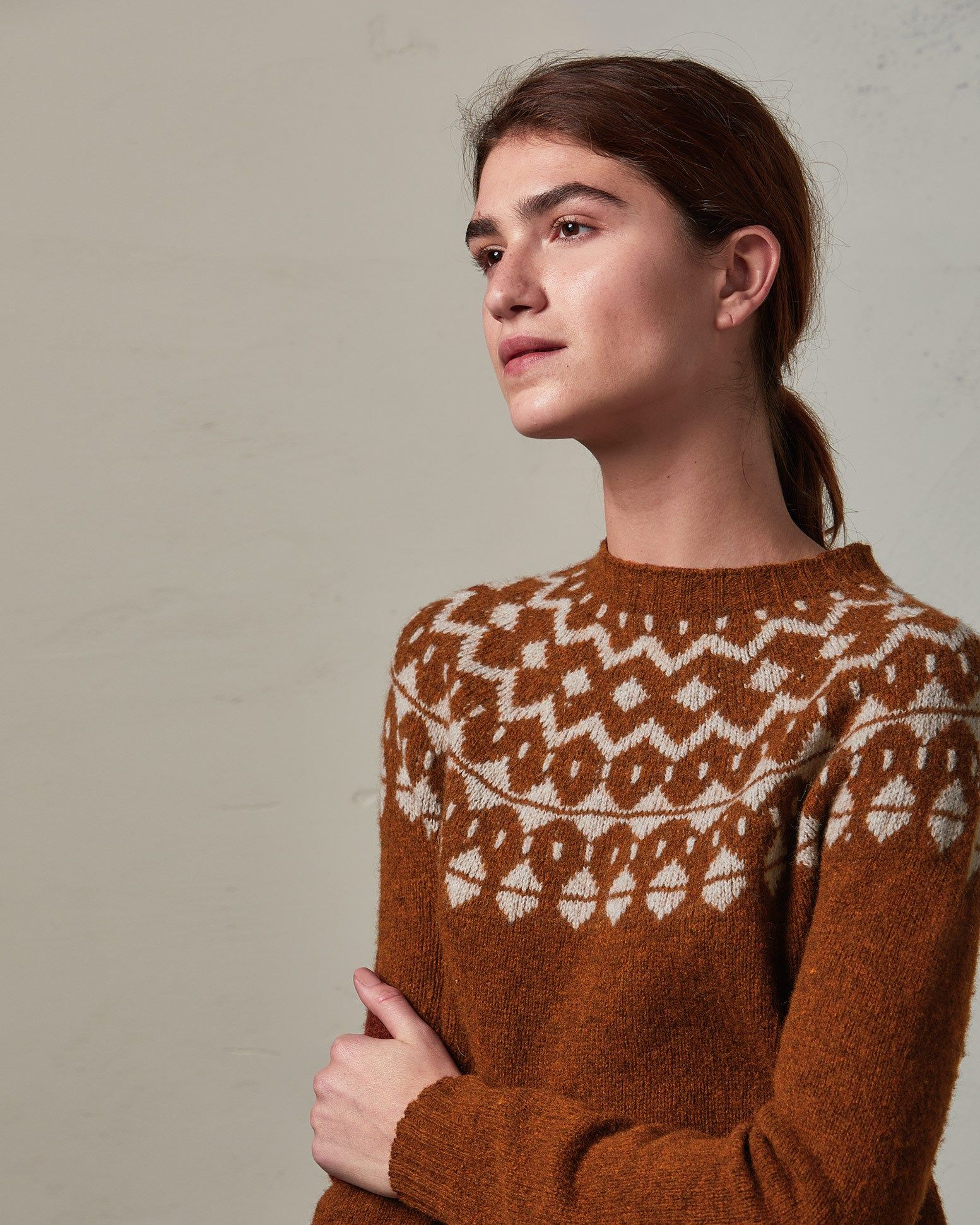 11d120af9105 Seamless Fair Isle Yoke Sweater
