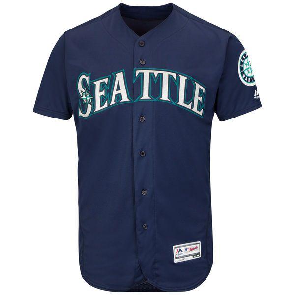 buy popular 5edff a2616 Men's Seattle Mariners Majestic Navy Flexbase Authentic ...