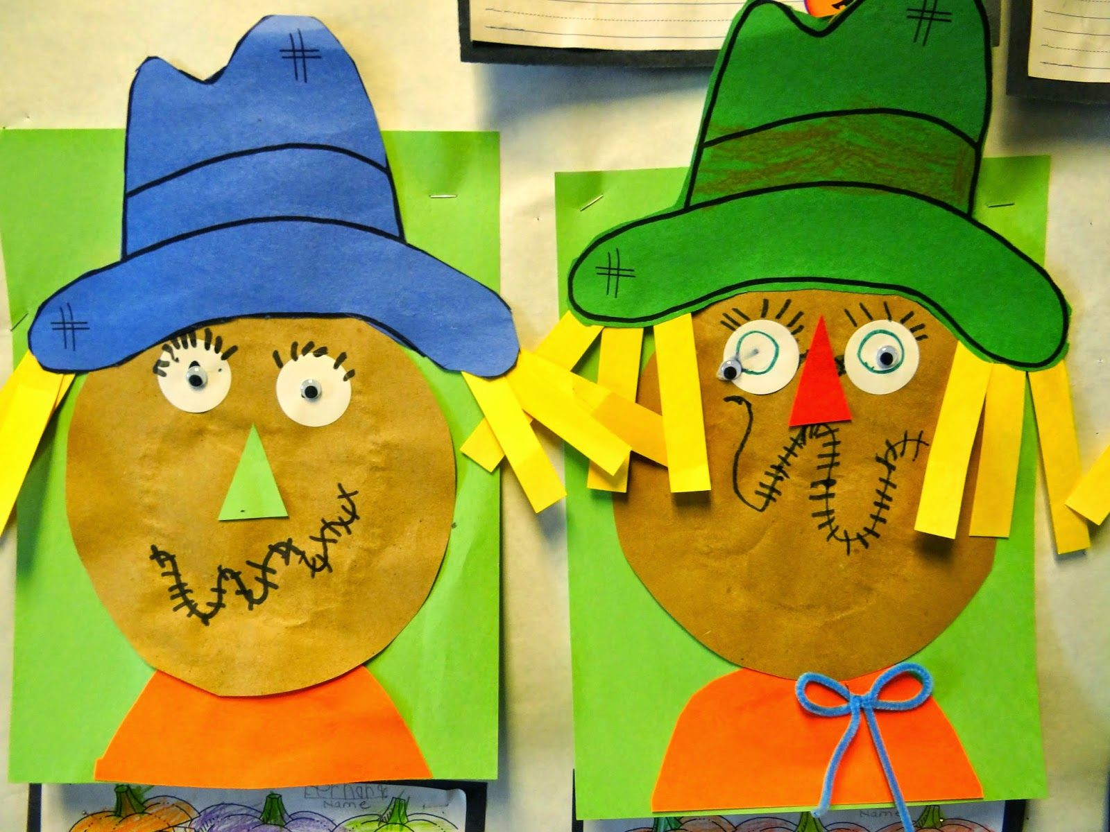 PATTIES CLASSROOM: Fall and #Scarecrow Art and Writing Activities ...
