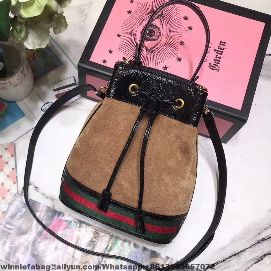 fbeef677185c Gucci Ophidia Small Suede Leather Bucket Bag 550621 2018   Gucci in ...