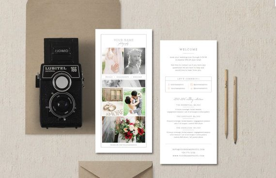 Rack Card Template For Photographers  Wedding Photographer