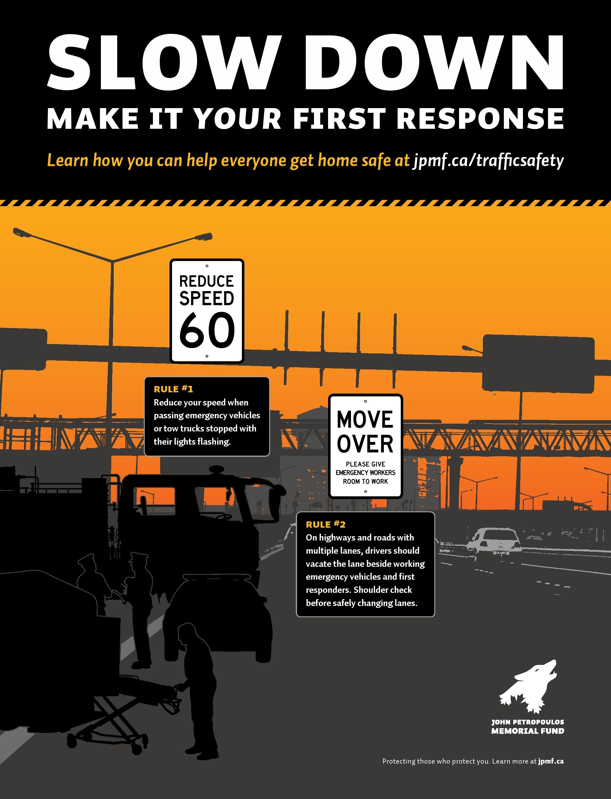 Slow Down safety poster