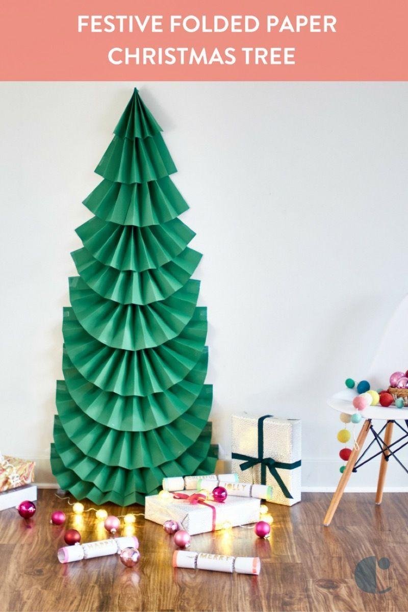 DIY Festive Folded Paper Christmas Tree