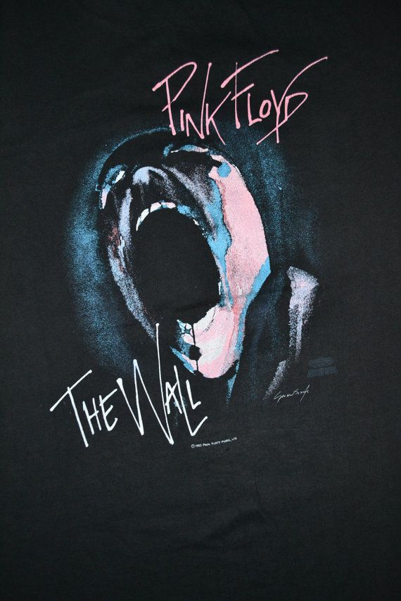 Vintage 80s Pink Floyd The Wall Tour Concert Promo Album Rare T Shirt Pink Floyd Art Pink Floyd Poster Pink Floyd