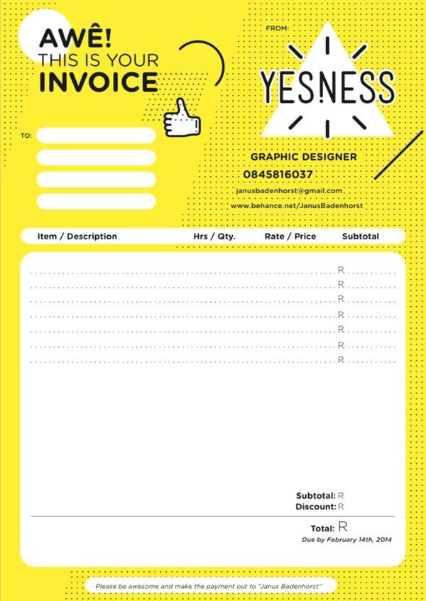 Invoice Design  Examples To Inspire You  Yearbook Design