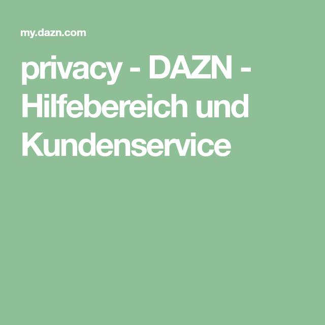 Dazn Kundenservice