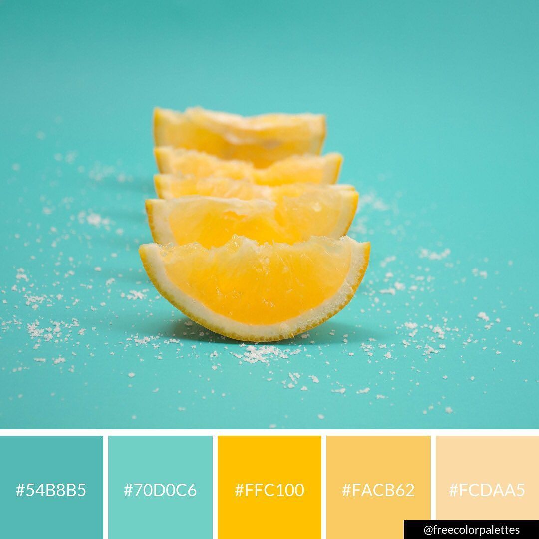 Fresh Lemon Turquoise And Yellow Color Palette Inspiration