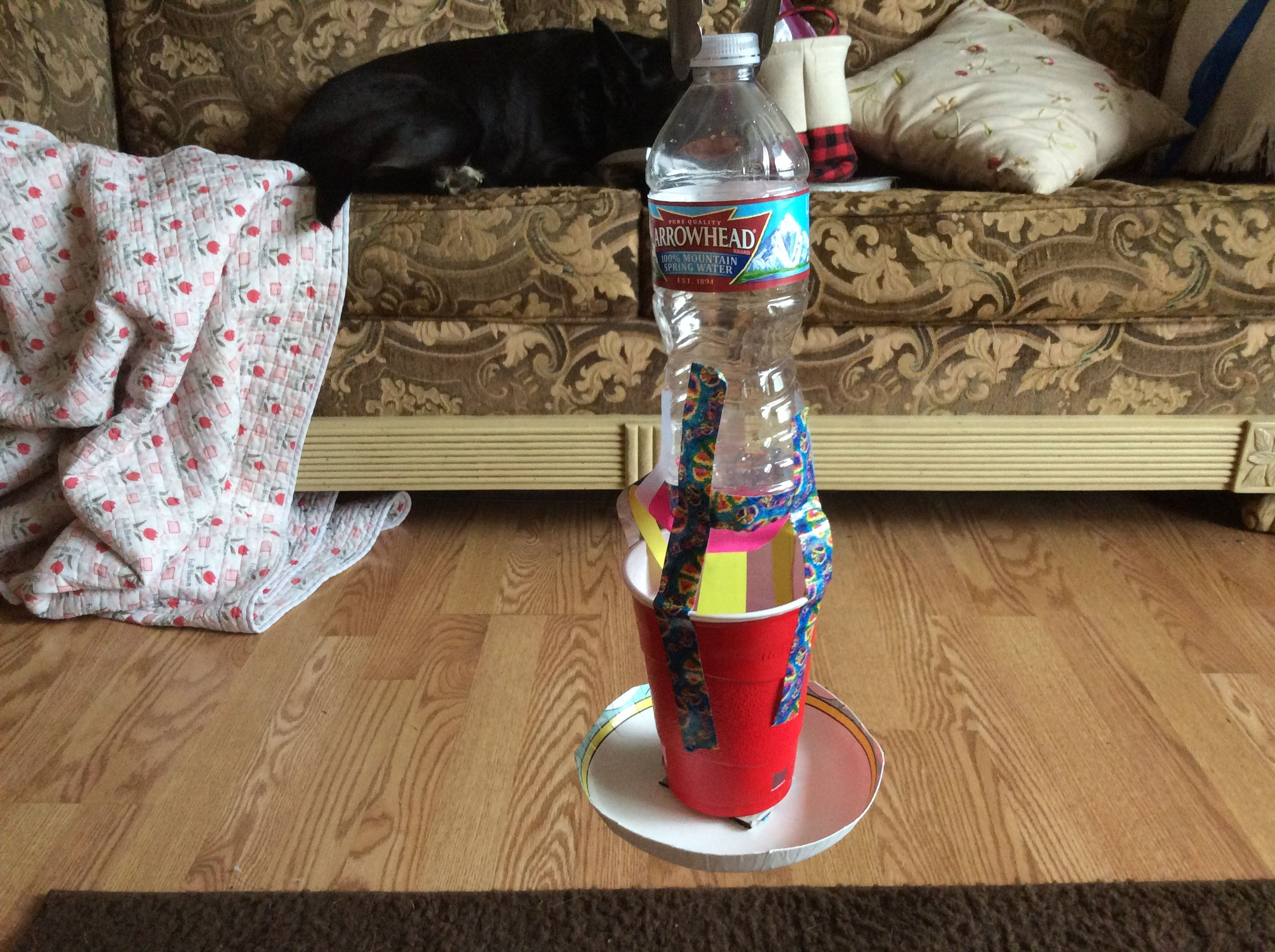 DIY bird feeder made from all recycled parts! Help the world RECYCLE