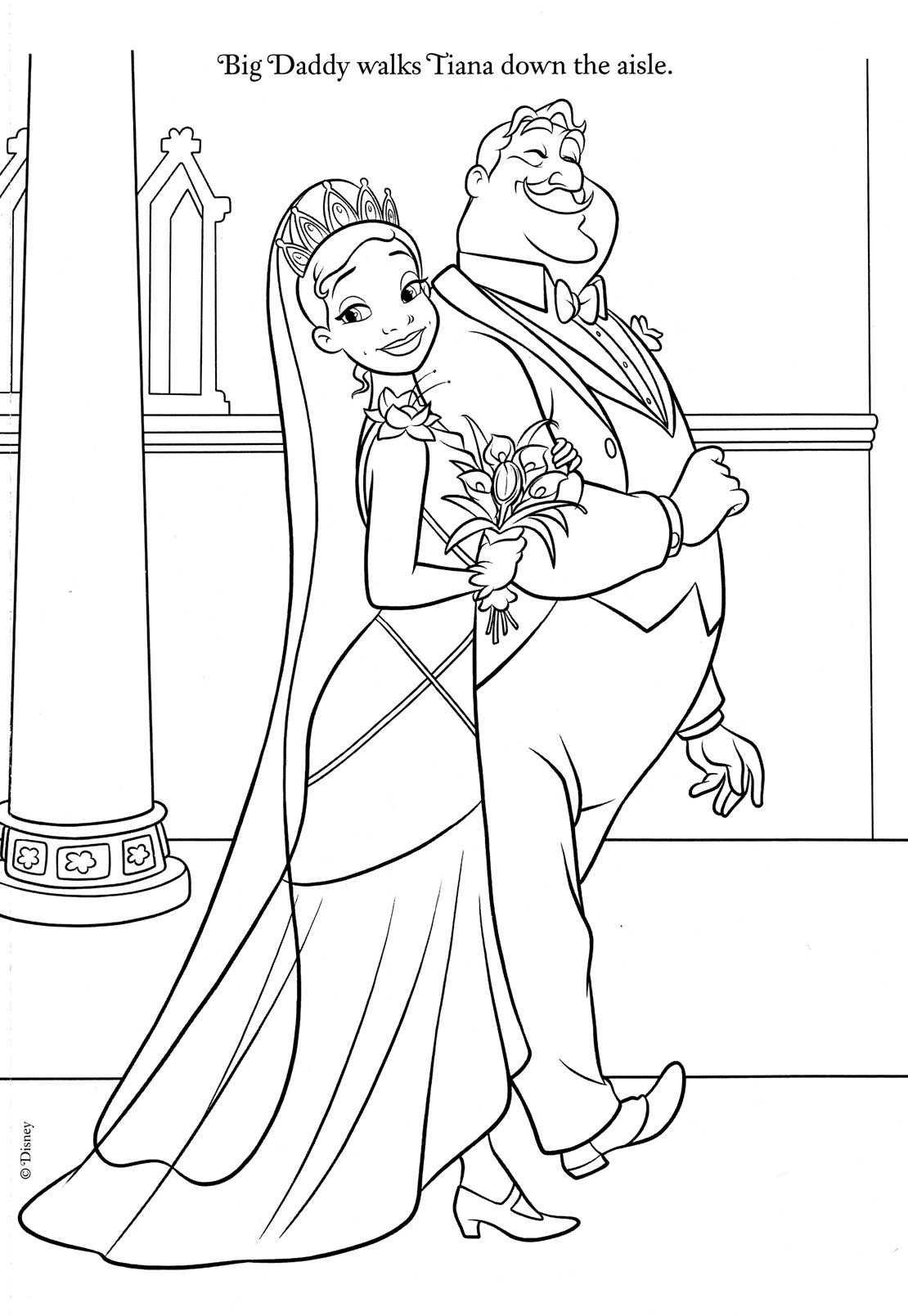 Princess and the Frog Coloring Pages Bricolage/ Couture
