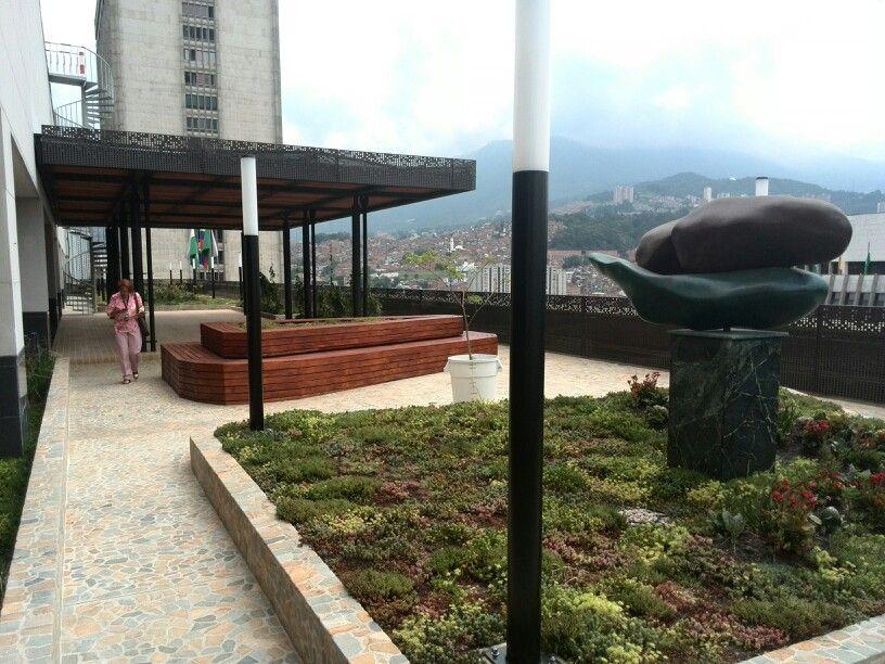 Terraza del edificio de la Alcaldía de Medellín
