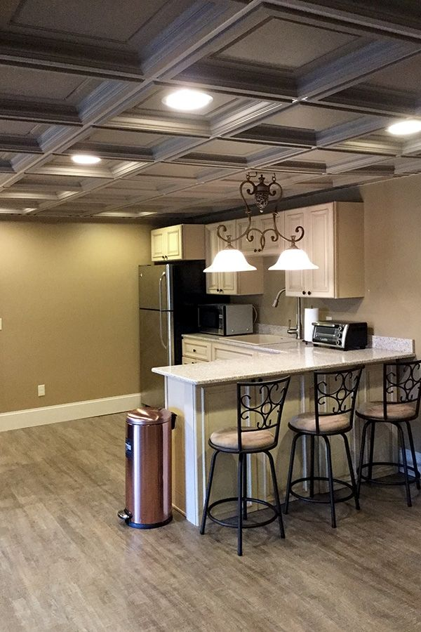 Multi Room Coffered Ceiling Panel Installation With Images Coffered Ceiling Kitchen Ceiling Ceiling