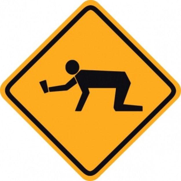 warning sign clip art student sign warning clip art free vector rh pinterest com roadway clipart png Cartoon Road Clip Art
