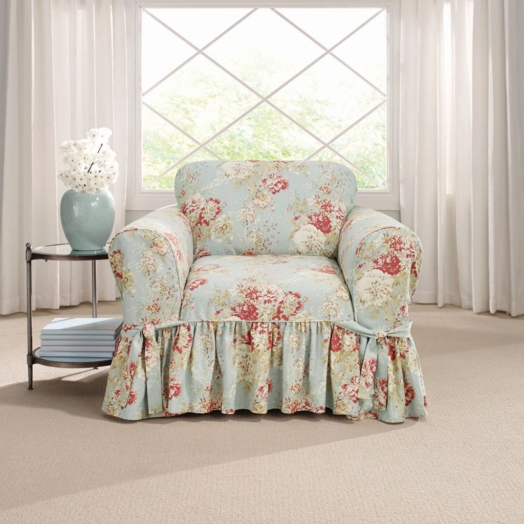 Awe Inspiring Sure Fit Waverly Ballad Bouquet Chair Slipcover In 2019 Download Free Architecture Designs Scobabritishbridgeorg