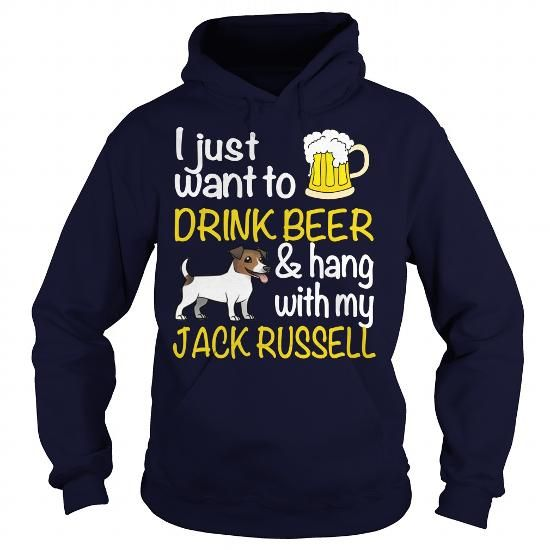 Awesome Tee DRINK BEER WITH MY JACK RUSSELL T shirts