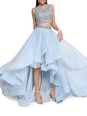 cc7f74097a0e Glamour by Terani Couture Two-Piece Embellished Prom Dress Set ...