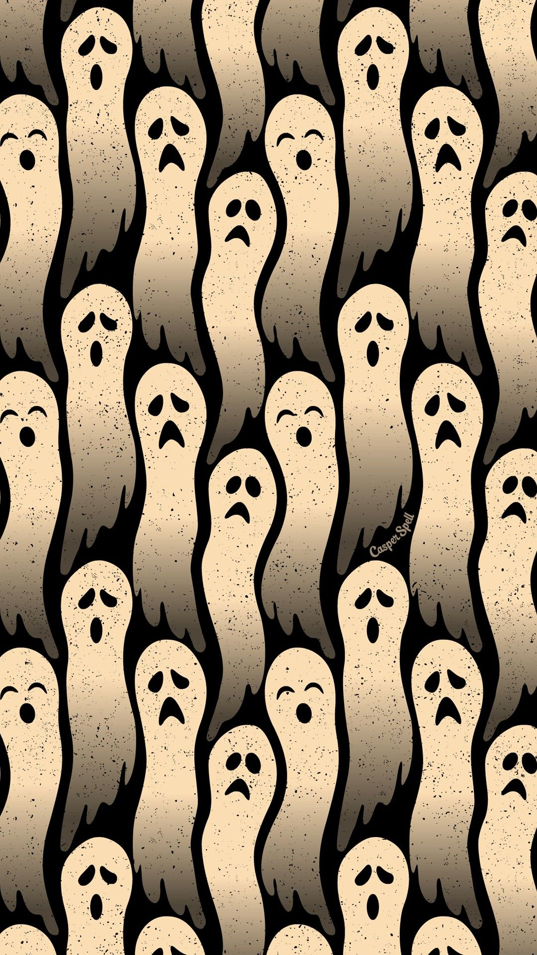 Ghosts repeat pattern halloween background wallpaper