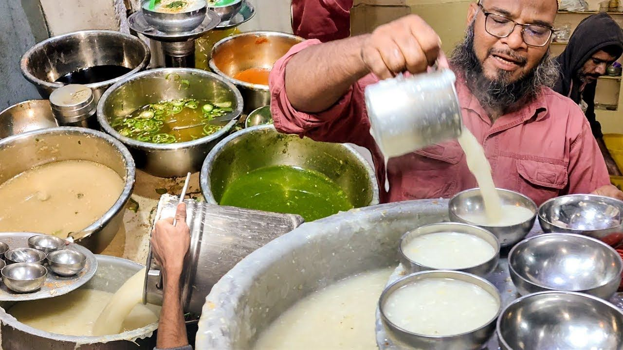Famous Bohri Kaka Soup Street Food Chicken Corn soup in