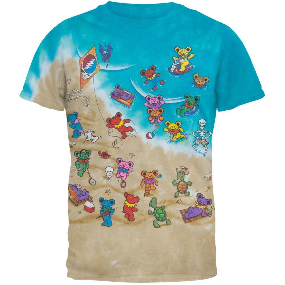4641a73e4 Grateful Dead - Dancing Bears On The Beach Youth Tie Dye T-Shirt | OldGlory .com