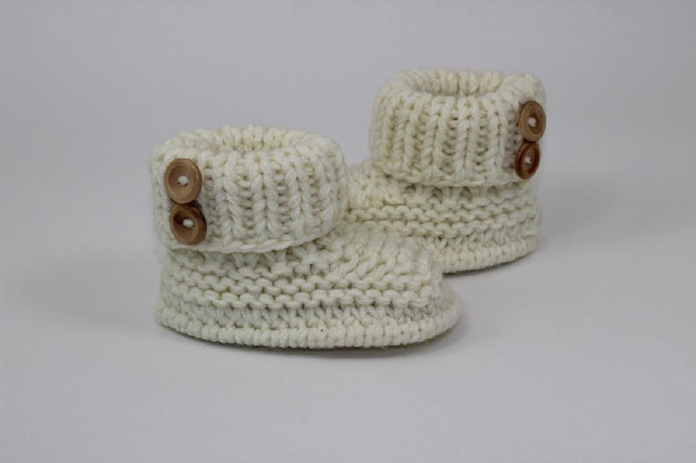 Baby Chunky 2 Button Booties