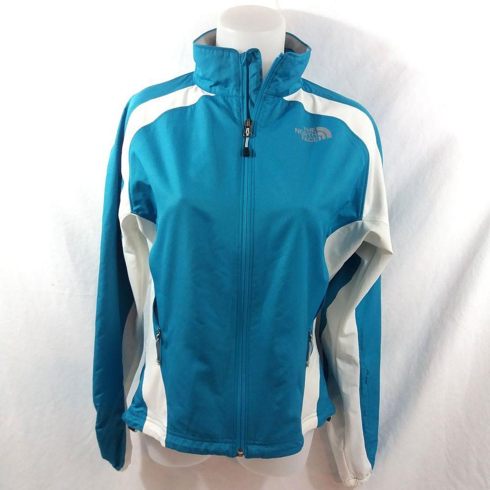 8f75439f1220 The North Face Running Athletic Jacket Medium Softshell Windbreaker Teal  White  TheNorthFace  Windbreaker