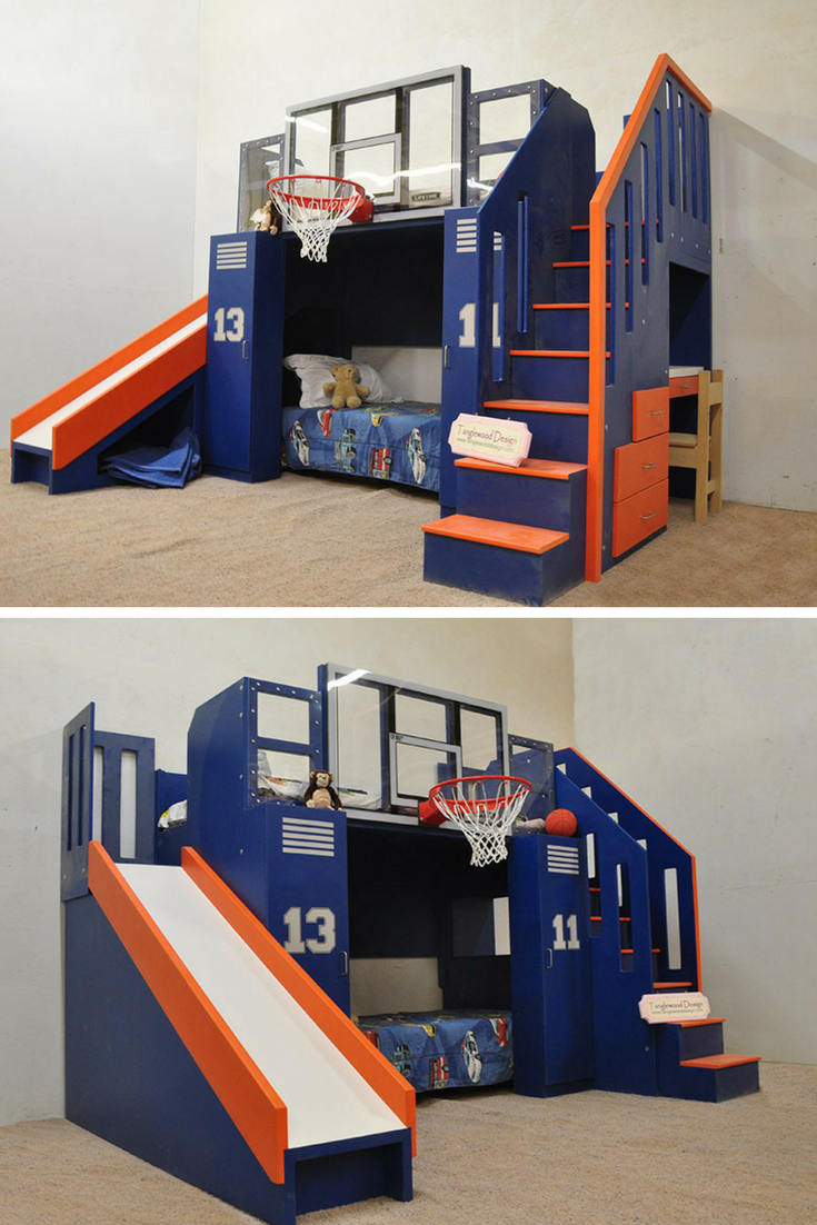 The Ultimate Basketball Bunk Bed Truly Is A Show Stopper! This Incredible  Design Can Be