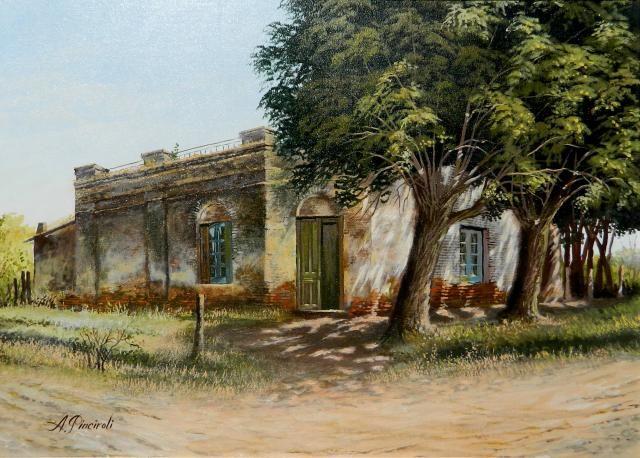 Alberto L Pinciroli Pinturas Paisajes Hombre De Campo Pinturas
