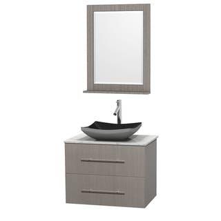 Wyndham Collection Centra 30 Inch Single Bathroom Vanity In Grey