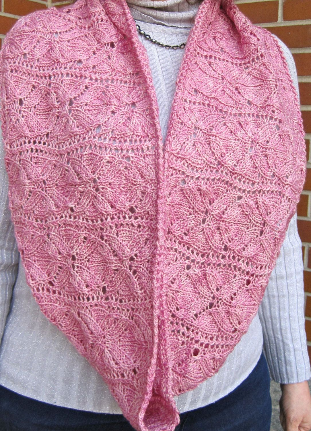 Knitting Pattern for Vinco Lace Flower Cowl - Lace infinity scarf ...