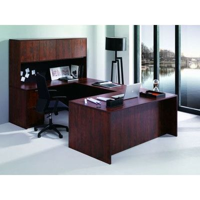 Conklin Office Furniture 7 Piece U Shape Desk Office Suite