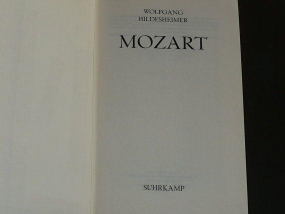 Mozart Wolfgang Hildesheimer 1977 German Language by booksvintage