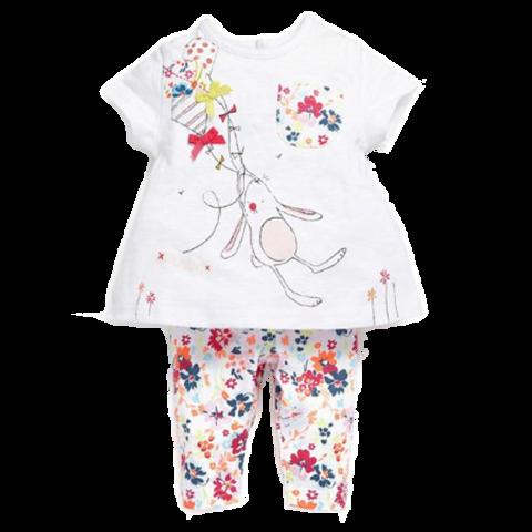 Baby Girl Printed Flowers Set