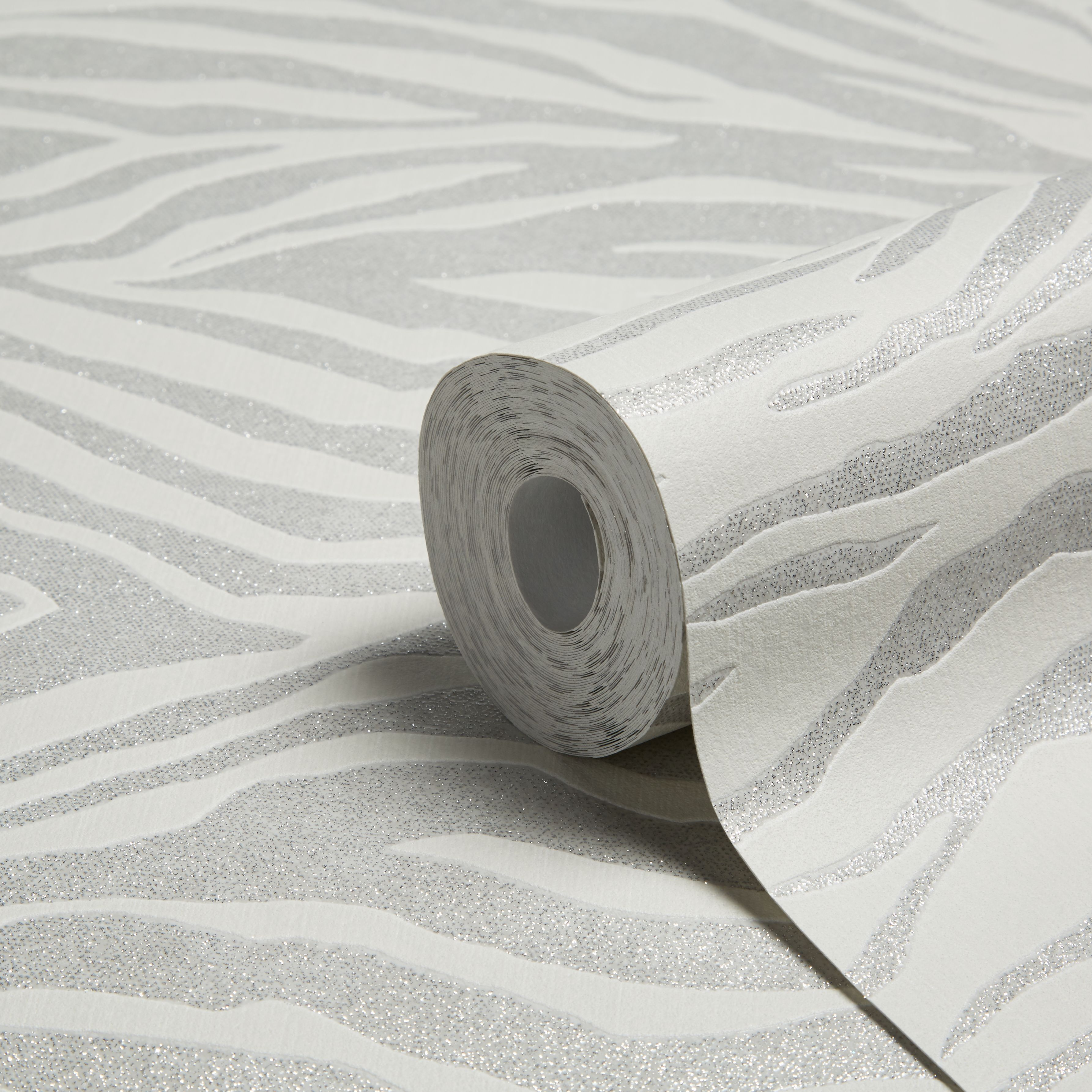 Graham Brown Superfresco Easy Silver Zebra Glitter Effect Wallpaper B Q For All Your Home And Garden Supplies Advice On The Latest Diy Trends