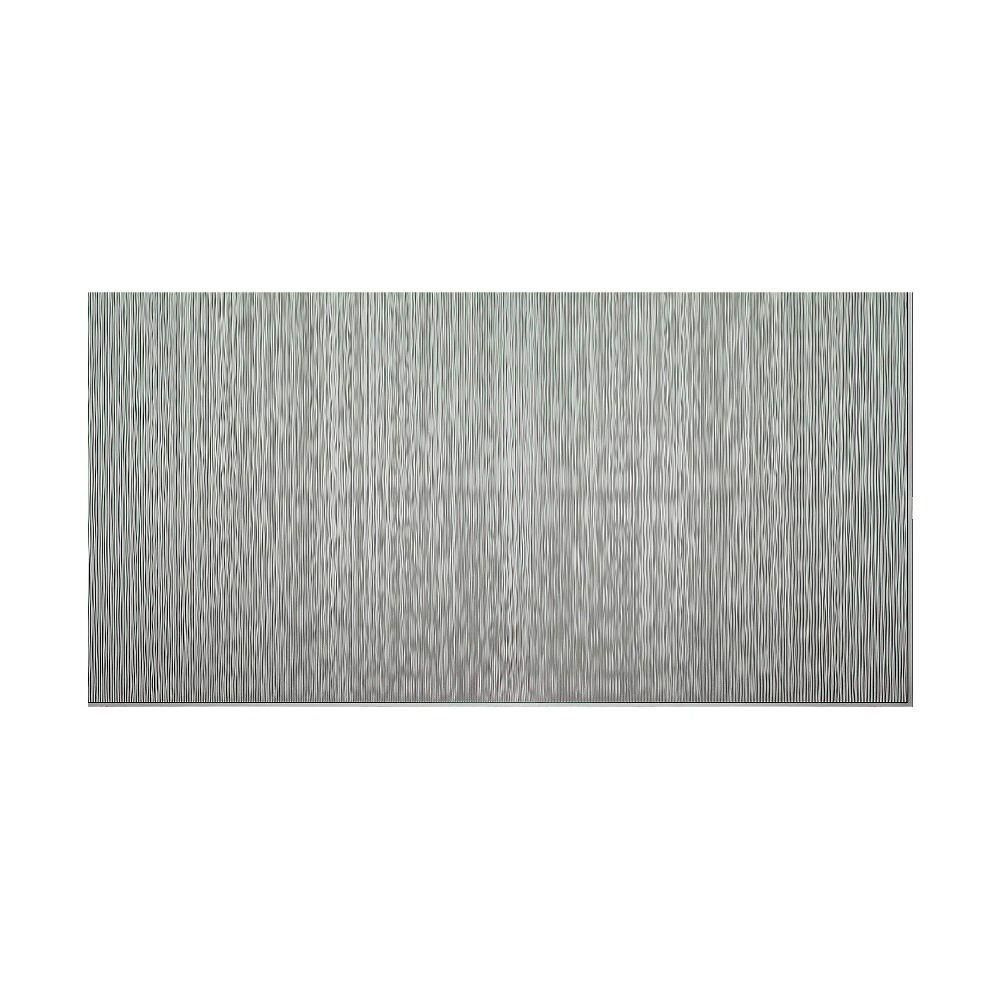 Ripple vertical in x in decorative wall panel in argent
