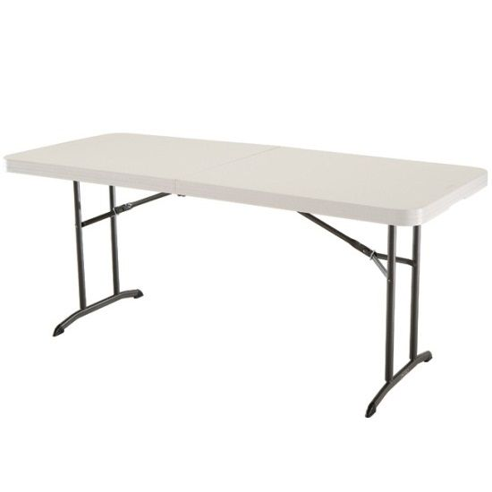 Lifetime Folding Table 80174 6 Foot Almond Fold In Half Table Lifetime Tables Fold In Half Table Folding Table