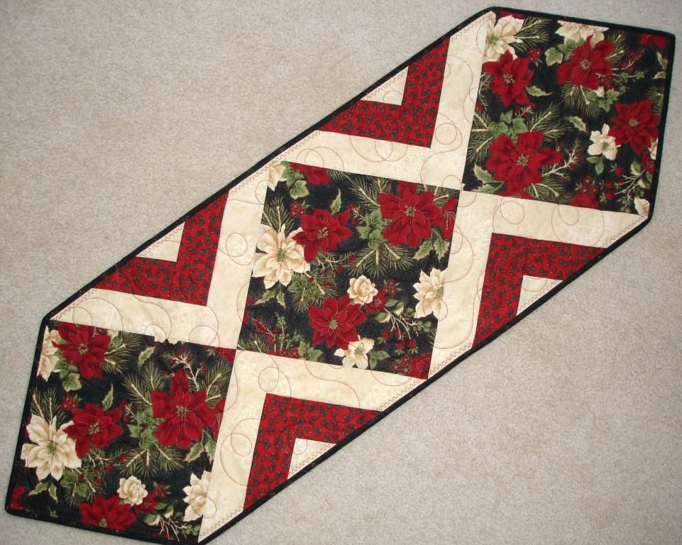 Christmas Table Runner Patterns To Quilt Easy Crochet Free