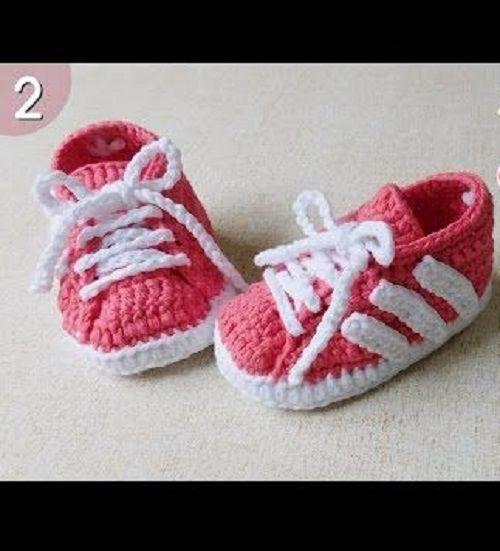 Adidas Baby Booties ~ Talking Crocheted | Zukünftige