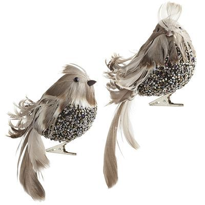 Feather Bird Clip Ornaments