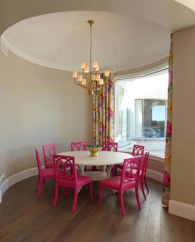 25 Elegant And Exquisite Gray Dining Room Ideas: 25 Elegant Pink Dining Room For Woman Style