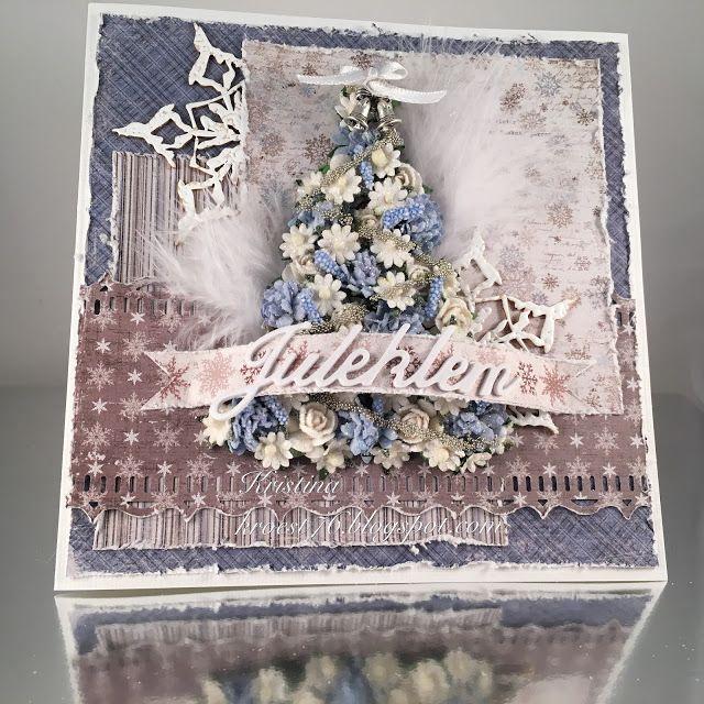 """Kristina's short blog: Christmas card with homemade """"Christmas tree"""""""